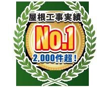 東京県屋根施工実績No.1、11,000件超
