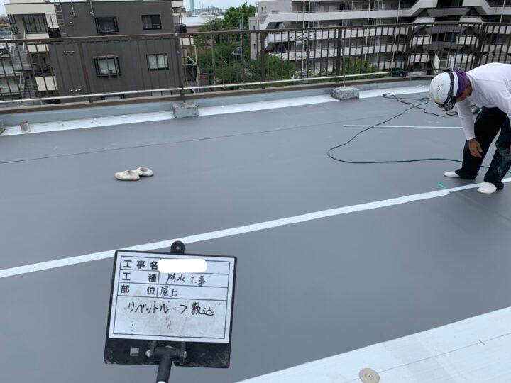 屋上防水/塩ビシート貼り込み