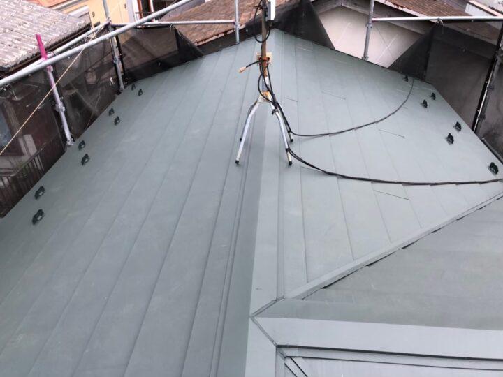 【葛飾区】 S様邸 屋根重ね葺き・瓦棒屋根葺き替え 施工事例