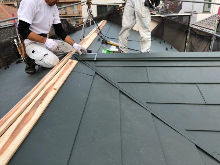 【屋根】板金設置