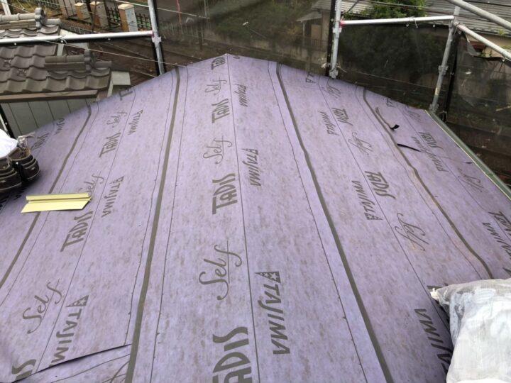 【屋根】ルーフィングシート張込み完了