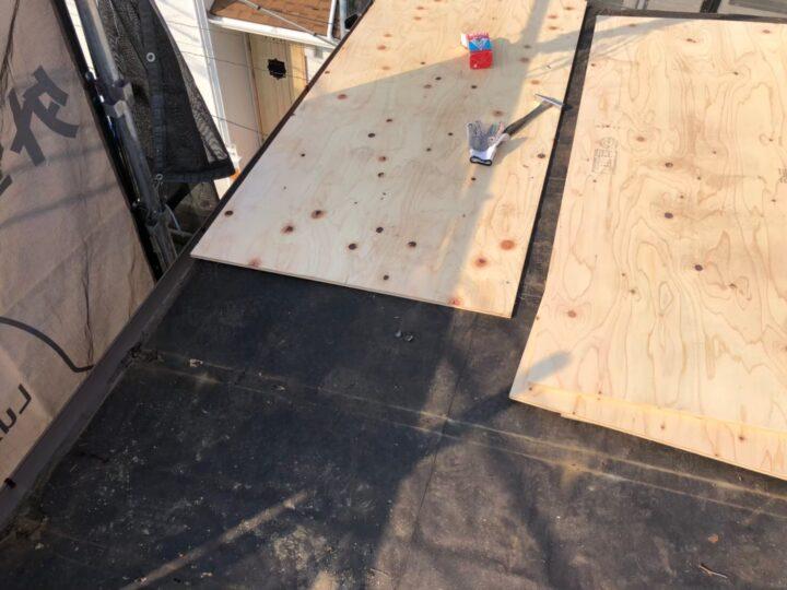 【瓦棒屋根】既存屋根撤去