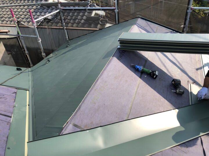 【屋根】屋根材設置