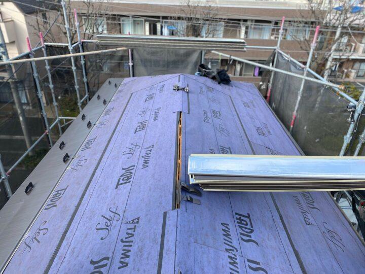 屋根重ね葺き②